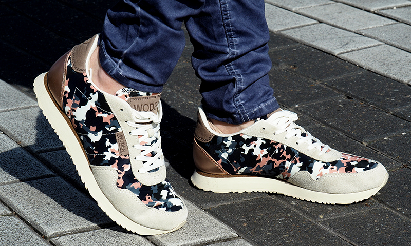 woden sneaker woman nora camouflage