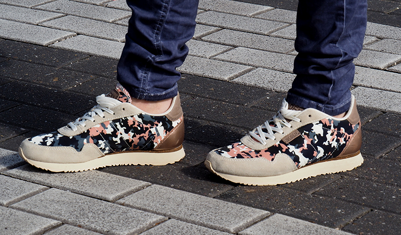 woden nora camouflage sneaker