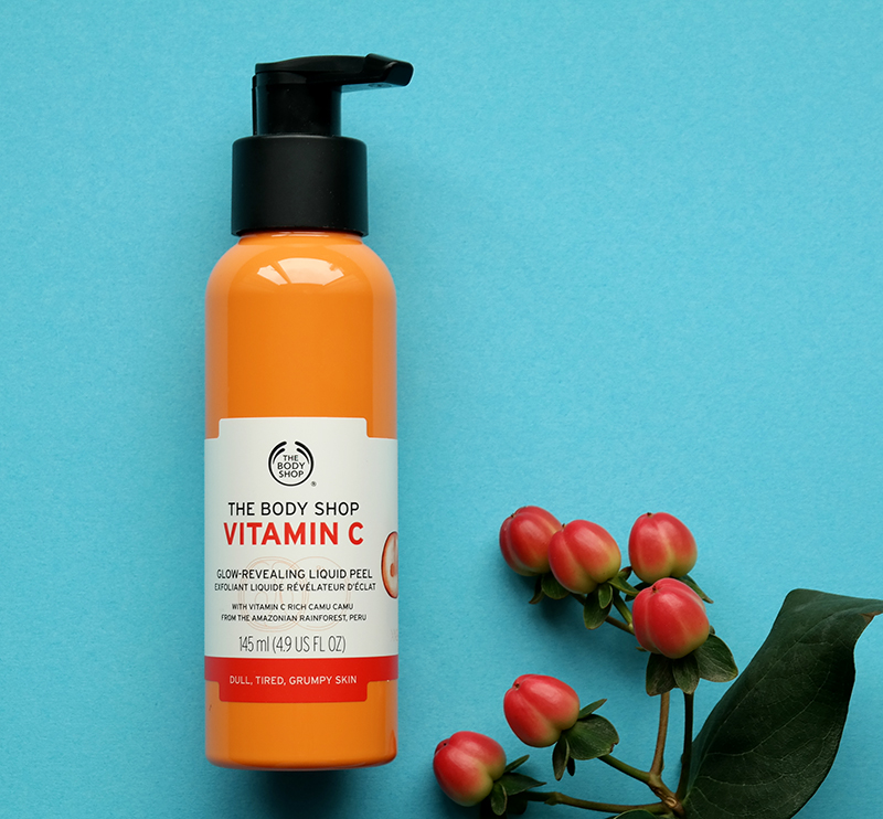 the body shop vitamin c glow liquid peeling