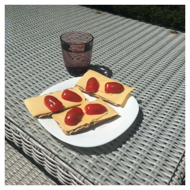 crackers kaas tomaat