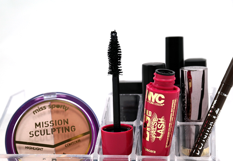 NYC 'Big Bold False Lash Mascara', L'Oréal glam beige, & Miss Sporty 'Blogger Look'