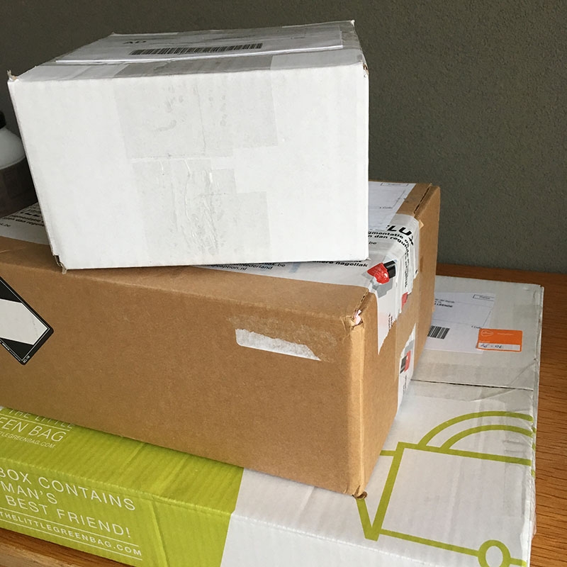 drie pakketjes
