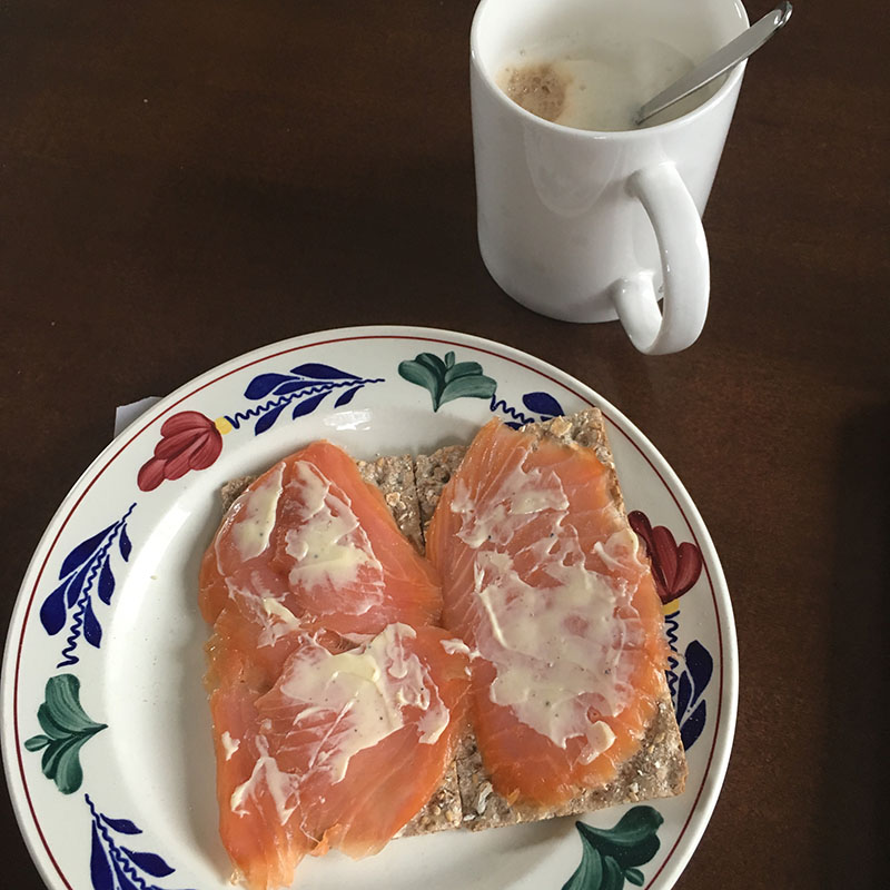 ontbijt cracker zalm