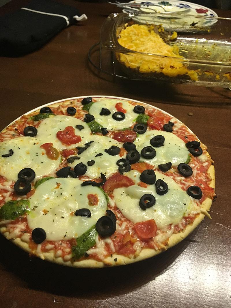pizza mozarella