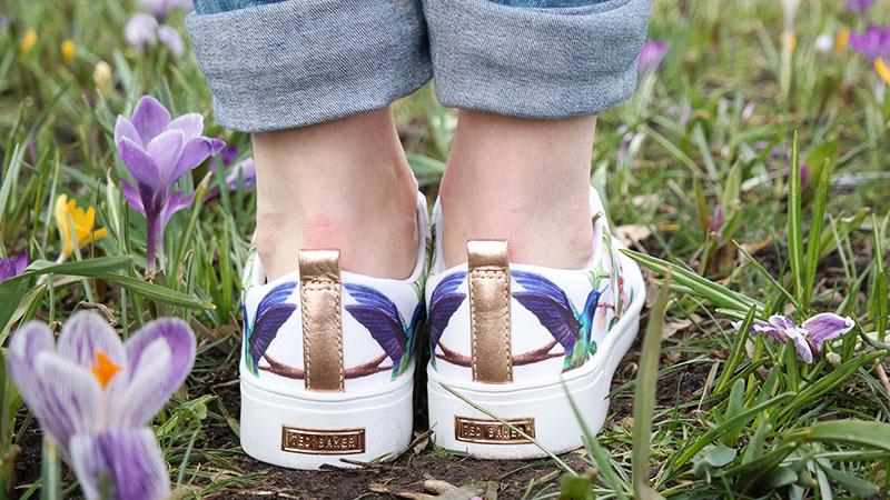 Mijn nieuwe witte Ted Baker sneakers