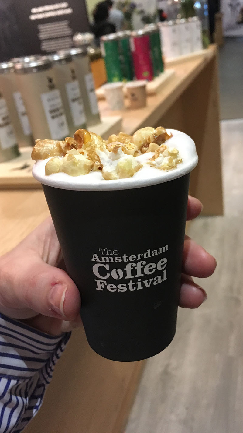 The Amsterdam Coffee Festival 2018 koffie popcorn