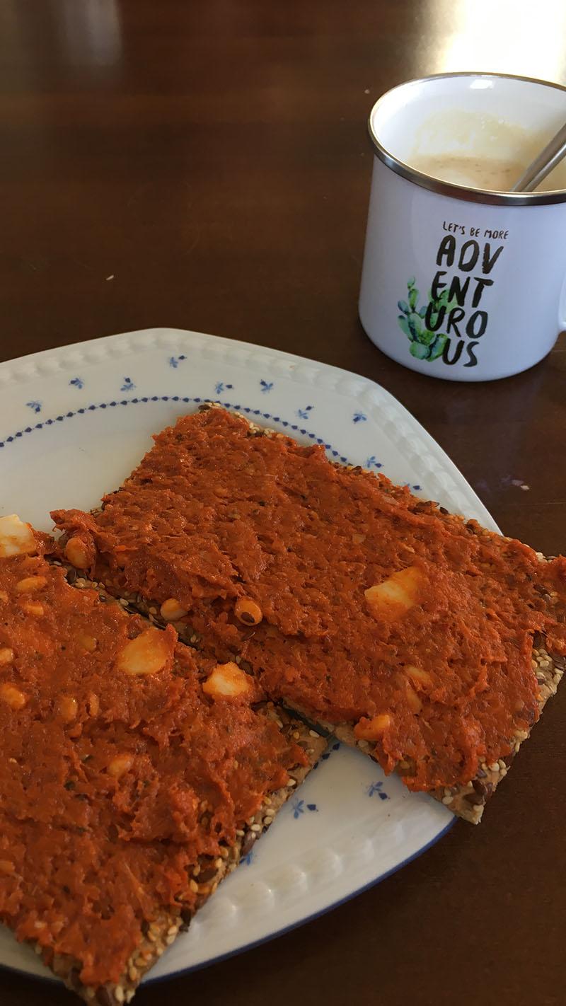 crackers filet american carpaccio