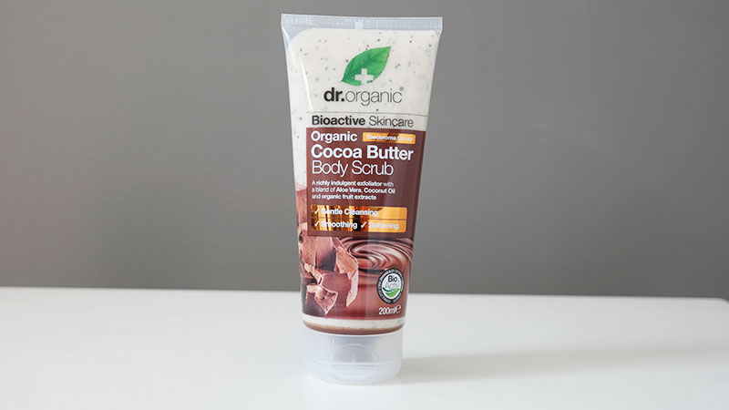 Dr Organic biologische Cocoa Butter body scrub