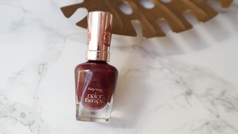 sally hansen Bohemian Chromes Collection wine therapy