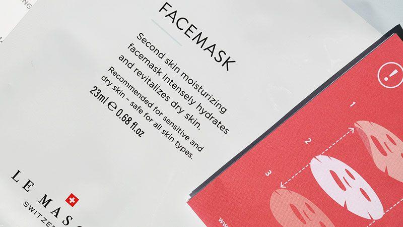 le masque switzerland facemask hydrating