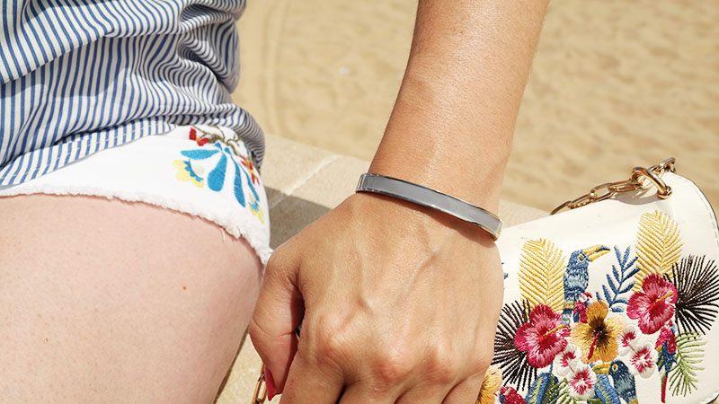 DRKS zilveren bangle armband