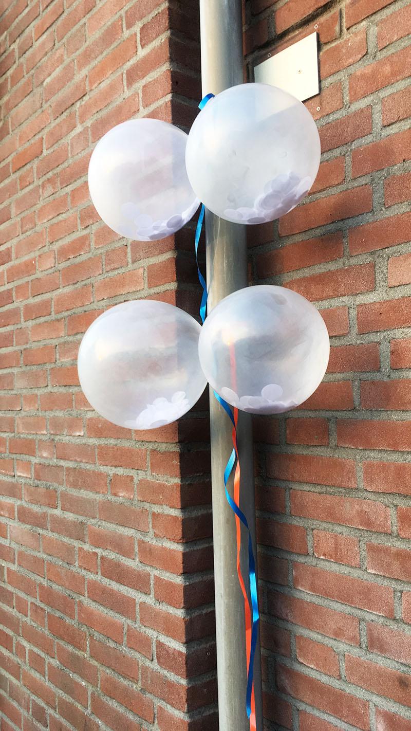 feestwinkel confetti ballonnen