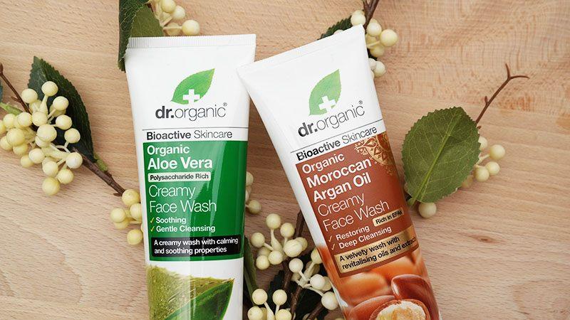 dr. organic aloe vera moroccan argan oil creamy face wash