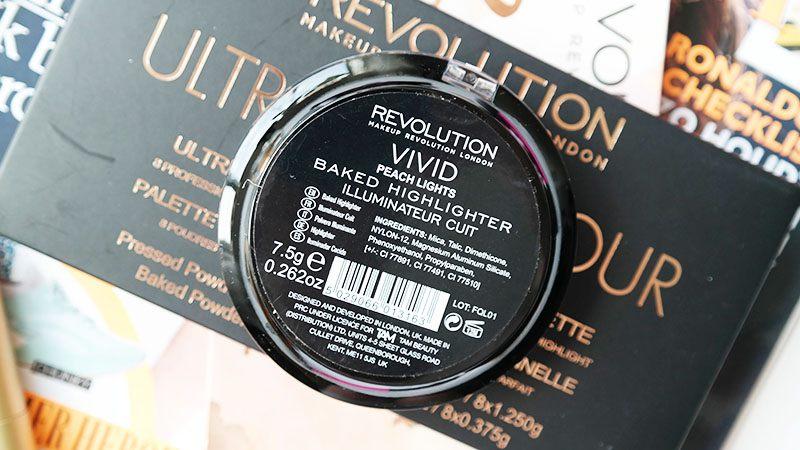 makeup revolution vivid baked highlighter peach lights review