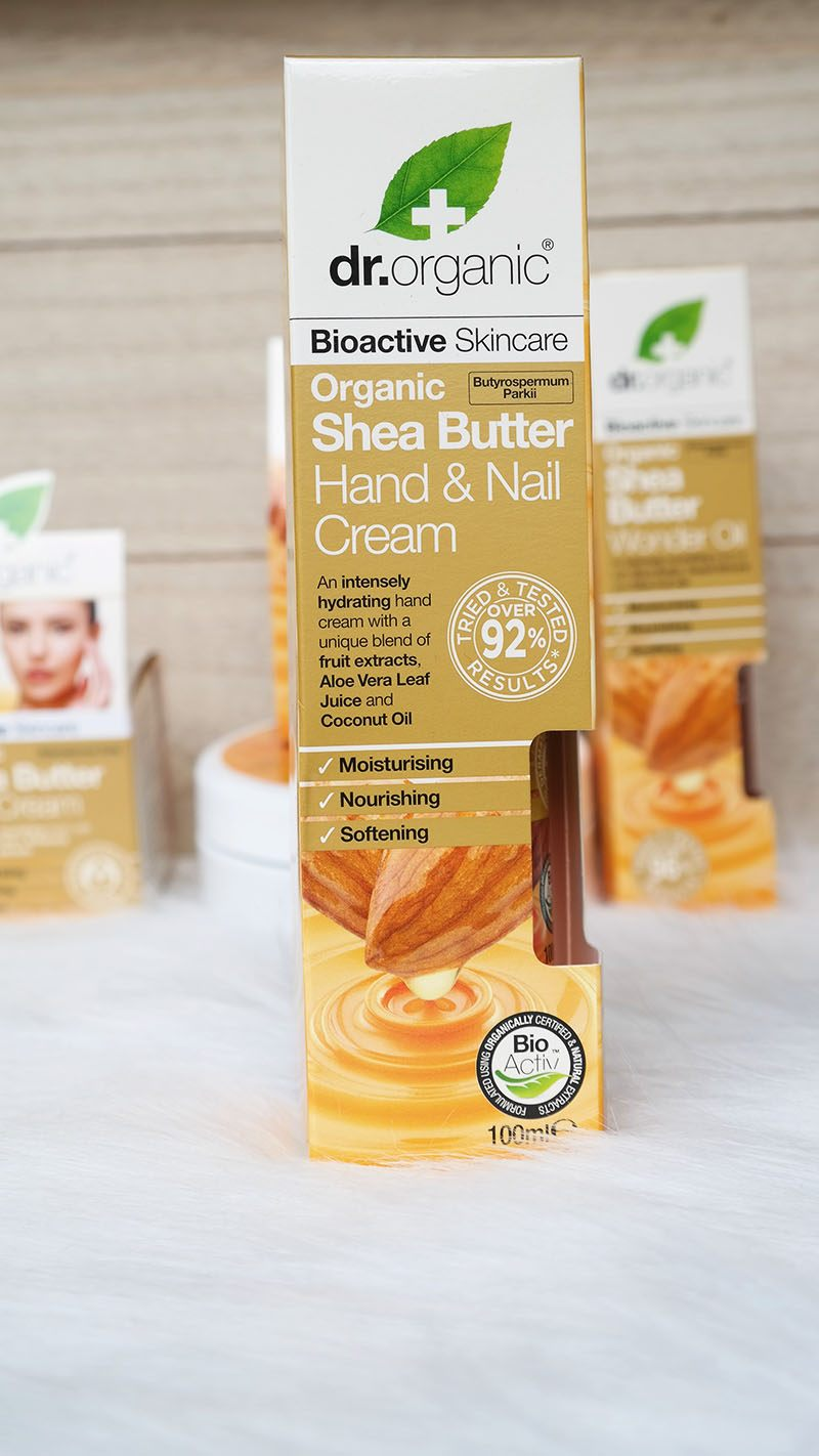 Dr. Organic shea butter hand and nail cream