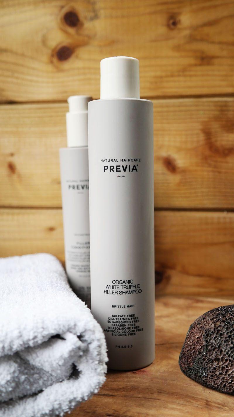 Previa Natural Haircare white truffle filler shampoo
