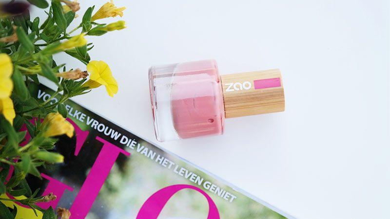 ZAO nail polish antinc pink