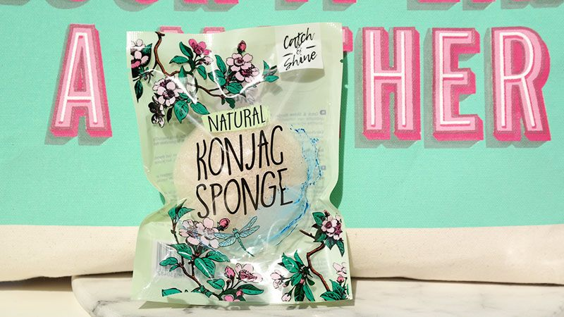 Catch & Shine Konjac Sponge Natural Kruidvat Reiniging