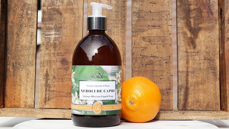 Exclusieve Tadé Aleppo Zeepproducten vloeibare zeep oranjebloesem
