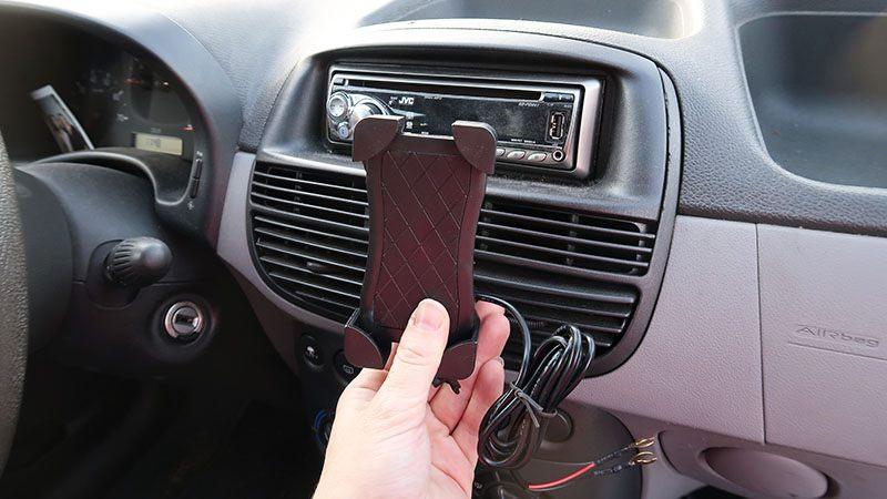 draadloze oplader mobiel auto