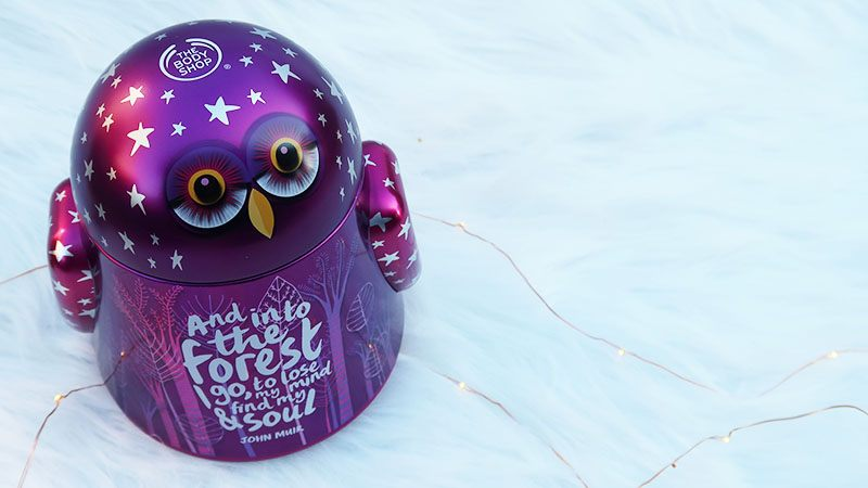 the body shop Olivia the Owl kerstcadeau