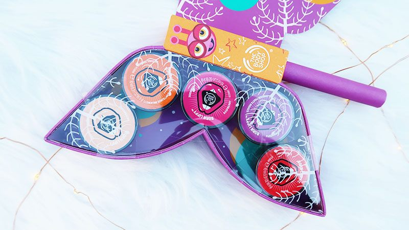 the body shop kerstcollectie Born Lippy Butterfly