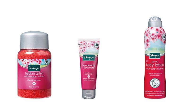 winactie kneipp cherry blossom producten