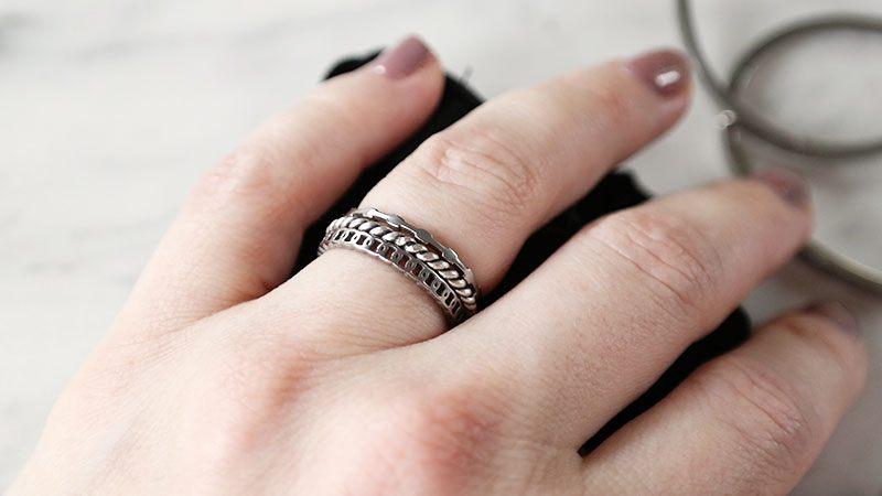 nieuwe zilveren sieraden ringen minimalistisch