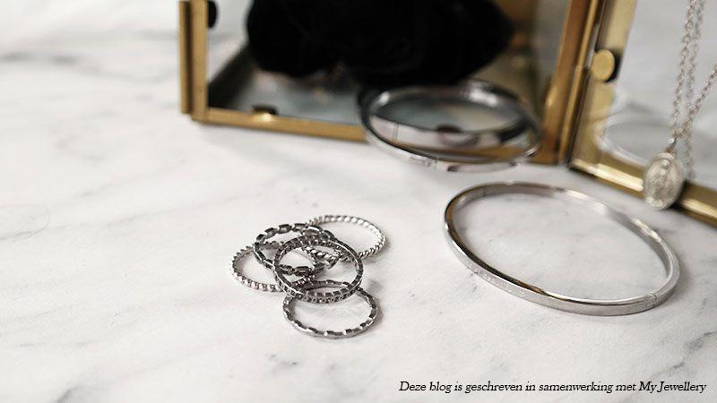 nieuwe zilveren sieraden zilveren ringen zilveren armband