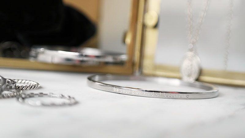 zilveren sieraden zilveren bangle quote