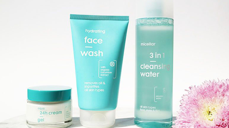 hema face wash micellair water dagcreme