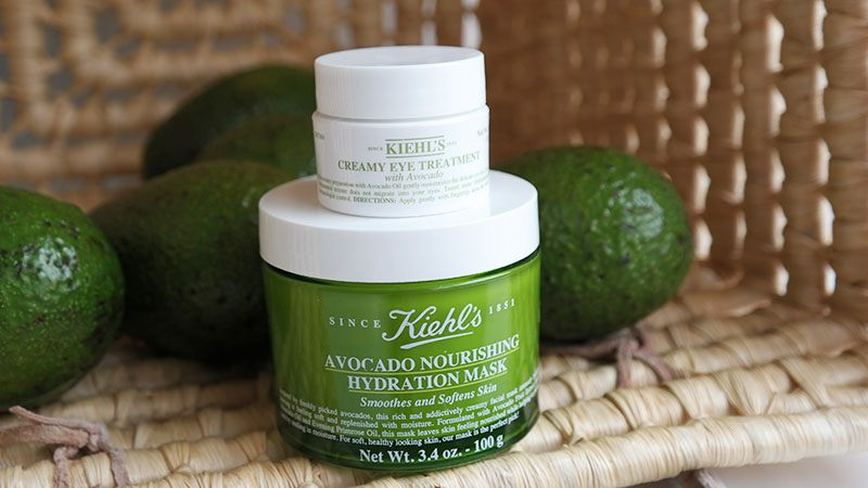 kiehls avocado mask oogcreme