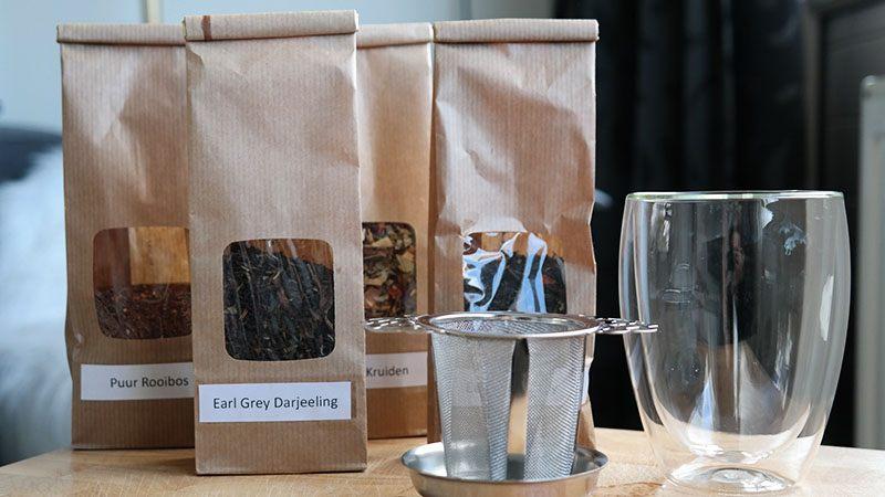 verschillende soorten losse thee