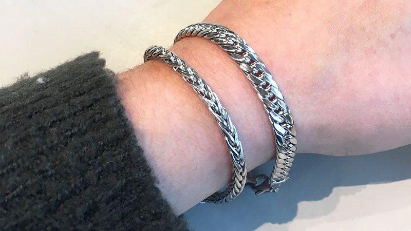 nieuwe zilveren armbanden