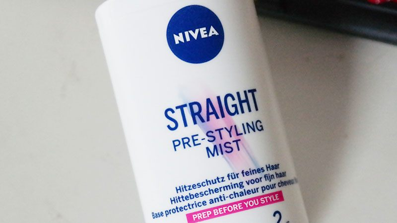nivea straight pre styling mist