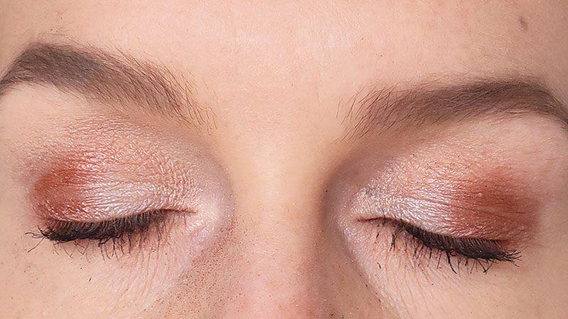 essen pink glitter show eyeshadow palette eyelook