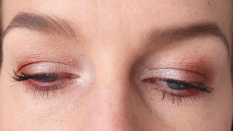 pink glitter show eyeshadow palette look