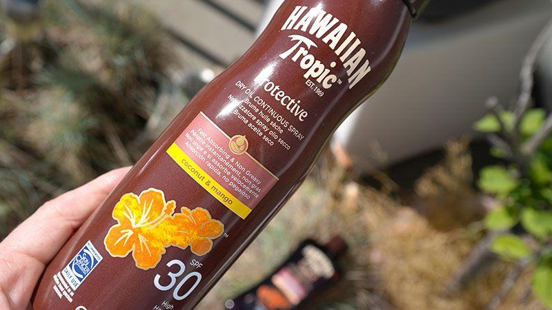 hawaiian tropic spray