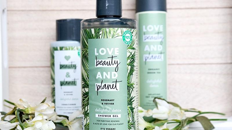 love beauty and planet rosemary vetiver shower gel