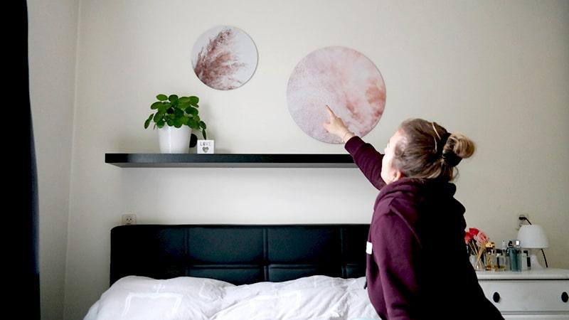 wandcirkels slaapkamer