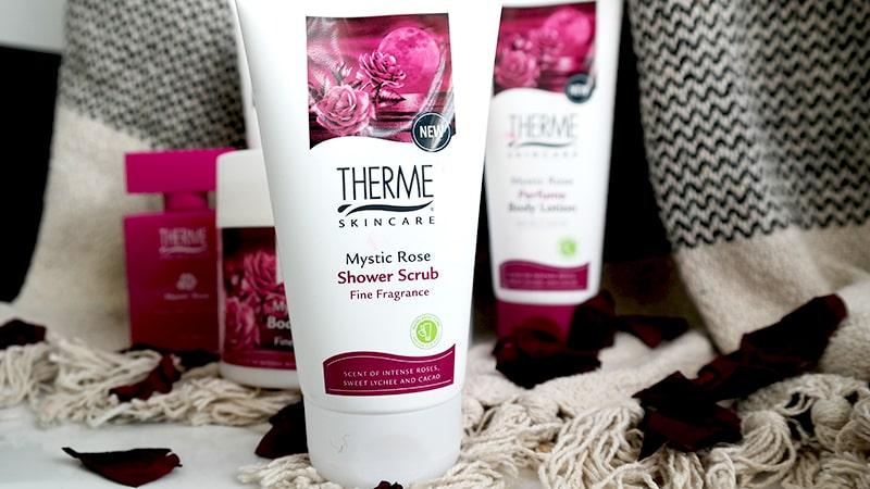 therme shower scrub mystic rose