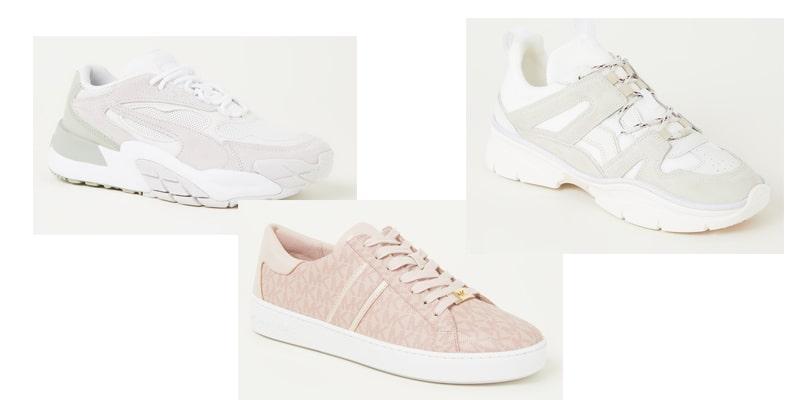 sneakers dames pastel