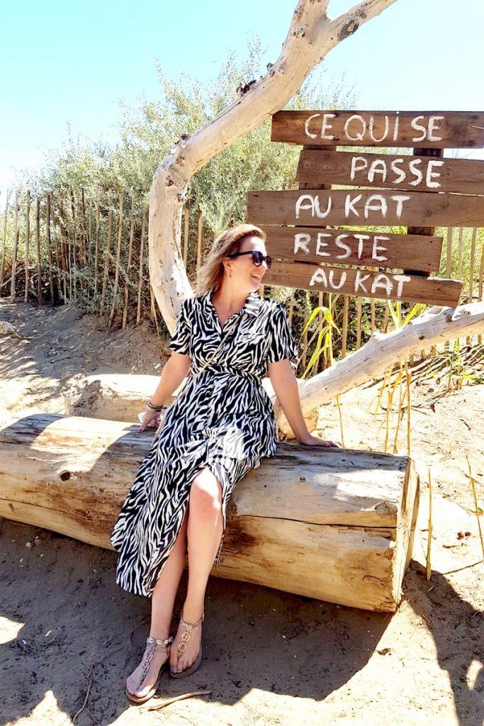 zebraprint jurk sandaal