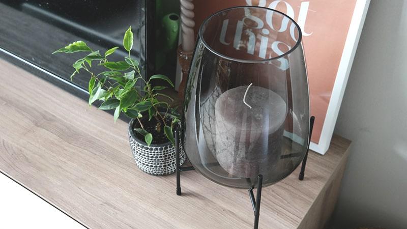 interieur accessoires glazen vaas