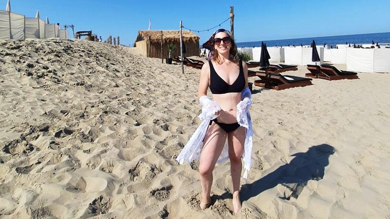 zwarte bikini met broekje