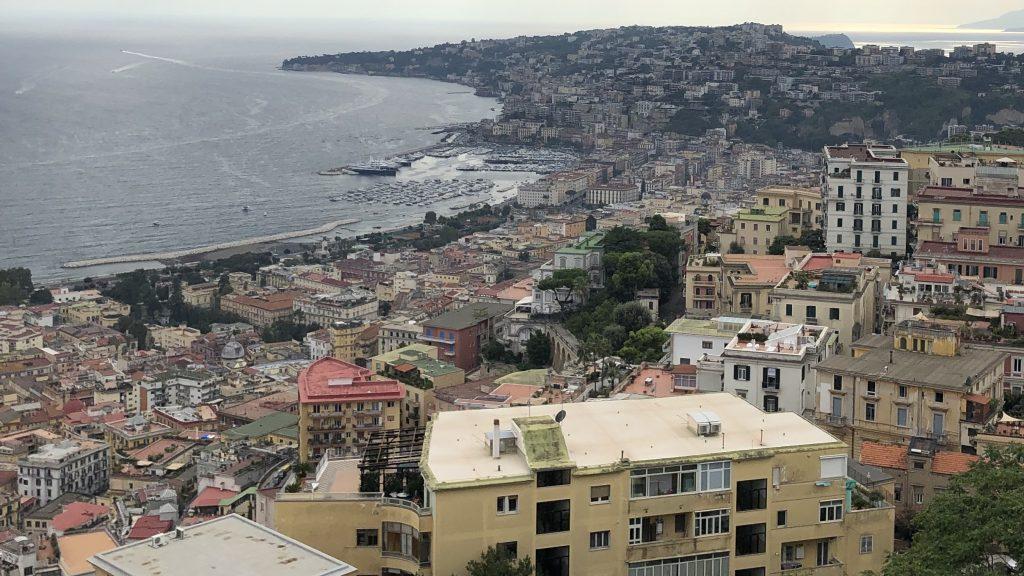 uitzicht napels Castel Sant´Elmo